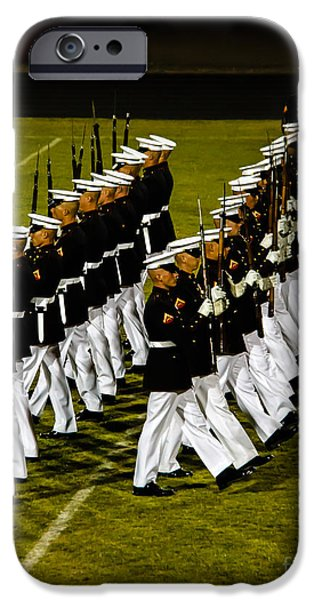 Recently Sold -  - Haybale iPhone Cases - The United States Marine Corps Silent Drill Platoon iPhone Case by Robert Bales