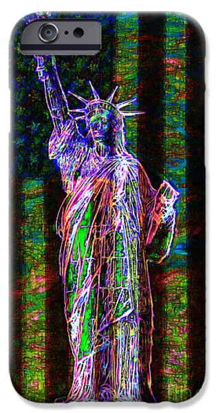 July 4th iPhone Cases - The United States of America 20130115 iPhone Case by Wingsdomain Art and Photography