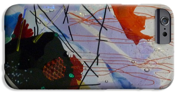 Star Glass iPhone Cases - The universe is expanding but my plate is already full. iPhone Case by Cat Christensen