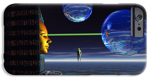 Cyberspace Digital Art iPhone Cases - The Universe Of Cyberspace iPhone Case by Mark Stevenson