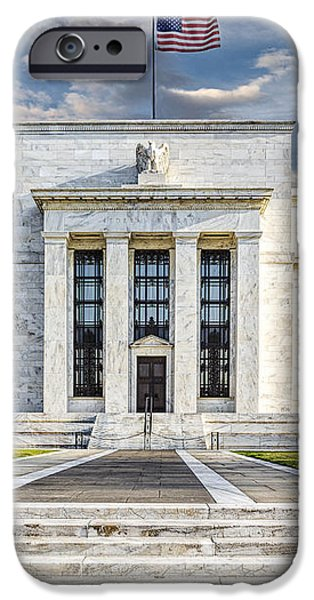 The US Federal Reserve Board Building iPhone Case by Susan Candelario