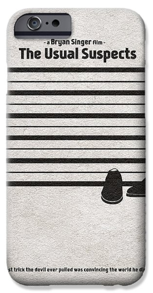 The Gift iPhone Cases - The Usual Suspects iPhone Case by Ayse Deniz