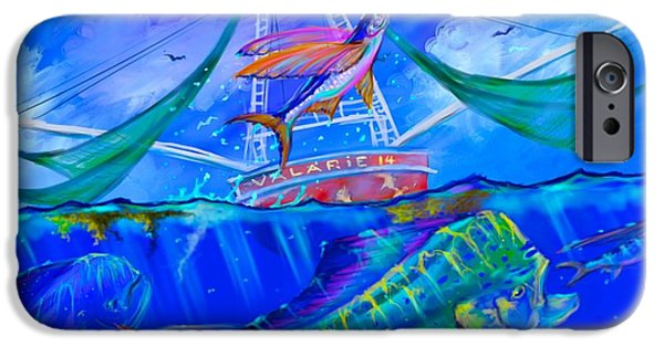 Redfish iPhone Cases - The Valarie  iPhone Case by Yusniel Santos