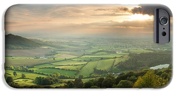 Sutton iPhone Cases - The Vale of York from Sutton Bank iPhone Case by John Potter