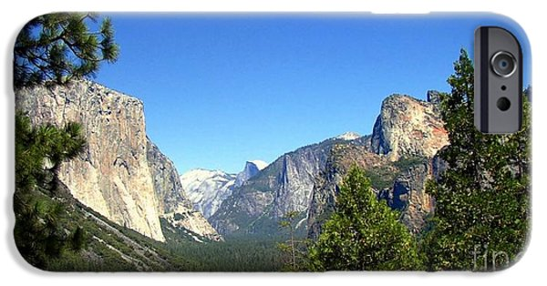 Cathedral Rock iPhone Cases - The Valley Of Inspiration-Yosemite iPhone Case by Glenn McCarthy Art and Photography