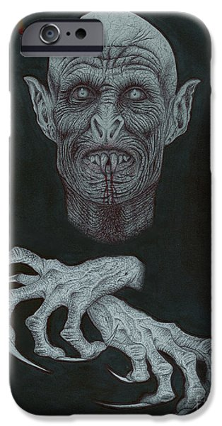Wave Art iPhone Cases - The Vampire iPhone Case by Wave