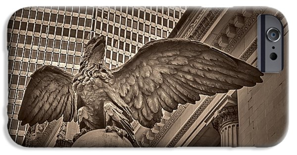 42nd Street iPhone Cases - The Vanderbilt Eagle  iPhone Case by Susan Candelario