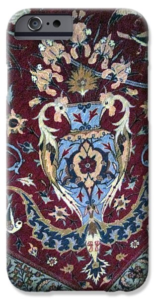Persian Carpet iPhone Cases - The vase Photos of Persian Antique Rugs Kilims Carpets  iPhone Case by Persian Art
