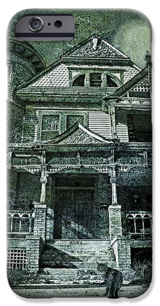 Haunted House iPhone Cases - The Victorian on Hawthorne Street iPhone Case by Nikolyn McDonald