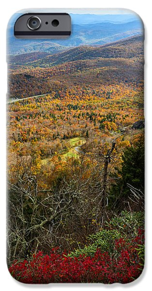 Blue Ridge Parkway iPhone Cases - The View from Grandfather Mountain iPhone Case by Andres Leon