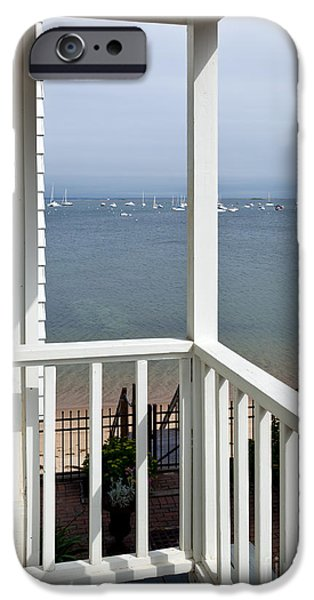 Sun Porch iPhone Cases - The View From The Porch iPhone Case by Michelle Wiarda