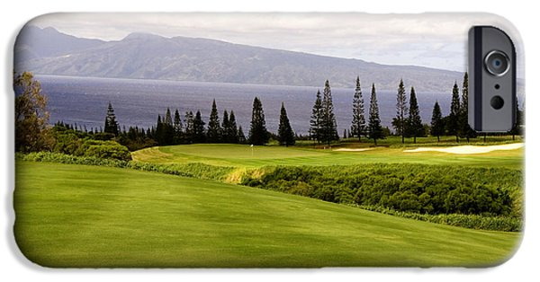 Golfer iPhone Cases - The View iPhone Case by Scott Pellegrin
