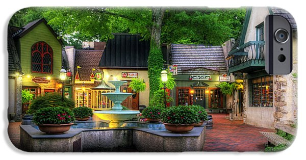 Recently Sold -  - Village iPhone Cases - The Village of Gatlinburg iPhone Case by Greg and Chrystal Mimbs