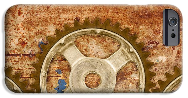 Mechanism iPhone Cases - The Vintage Gears iPhone Case by Martin Bergsma