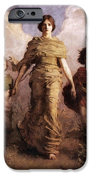Vintage Images iPhone Cases - The Virgin iPhone Case by Abbott Handerson Thayer