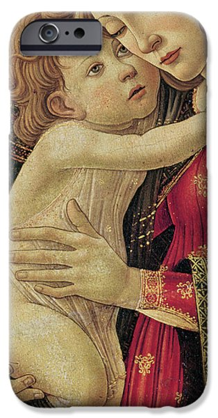 Jesus And The Children Print iPhone Cases - The Virgin and Child iPhone Case by Sandro Botticelli