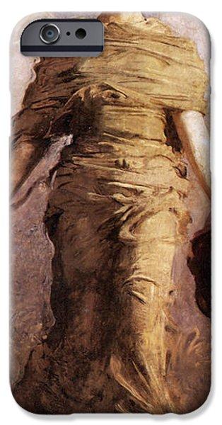 Abbott Handerson Thayer iPhone Cases - The Virgin detail iPhone Case by Abbott Handerson Thayer