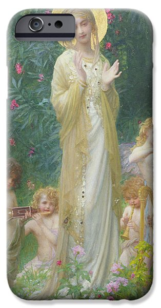 Recently Sold -  - Child iPhone Cases - The Virgin in Paradise iPhone Case by Antoine Auguste Ernest Herbert