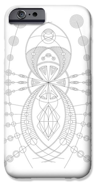 Hieroglyph iPhone Cases - The Visitor iPhone Case by DB Artist