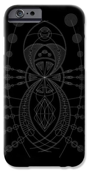 Hieroglyph iPhone Cases - The Visitor Inverse iPhone Case by DB Artist