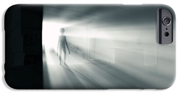Paranormal Digital iPhone Cases - The Visitor iPhone Case by Wim Lanclus