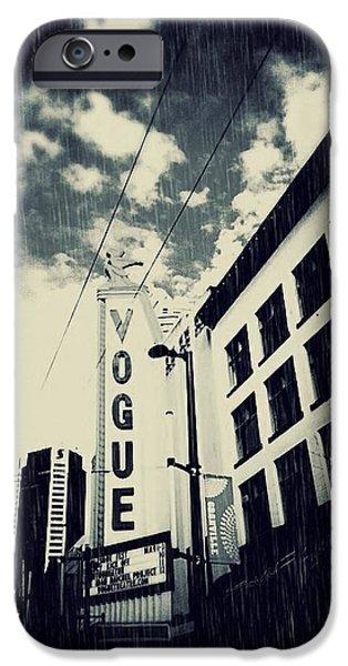 Sign iPhone Cases - The Vogue - Blue Noir  iPhone Case by Jennifer Kuehne