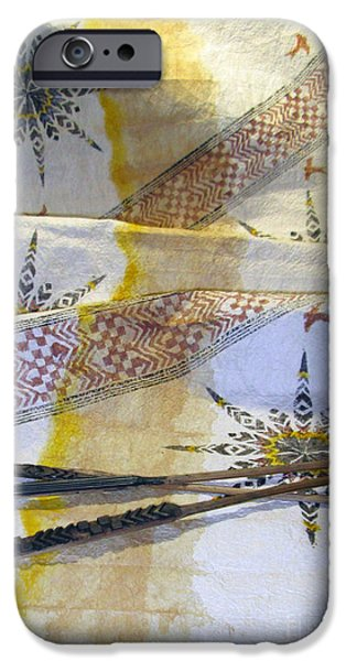 Tribal Tapestries - Textiles iPhone Cases - The Voice iPhone Case by Dalani Tanahy