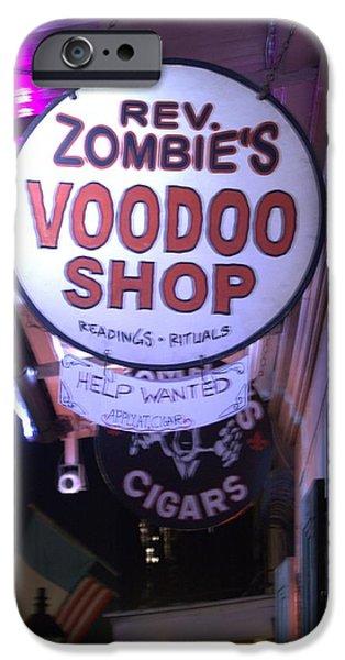 Voodoo Shop iPhone Cases - The Voodoo Shop Swign iPhone Case by Anthony Walker Sr