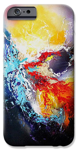 Outer Space Paintings iPhone Cases - The Vortex iPhone Case by Patricia Lintner