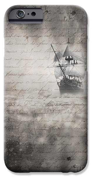 Mist iPhone Cases - The Voyage iPhone Case by Edward Fielding