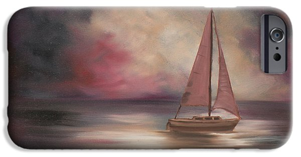 Sailboat Ocean iPhone Cases - The Voyage  iPhone Case by Marcel Quesnel