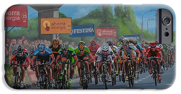 Cycling iPhone Cases - The Vuelta iPhone Case by Paul Meijering