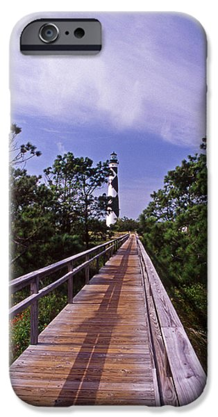 Cape Lookout iPhone Cases - The Walk To Cape Lookout iPhone Case by Skip Willits