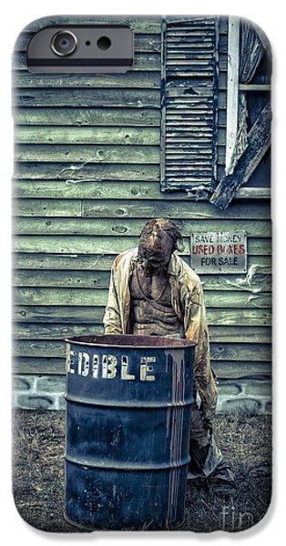 Eerie iPhone Cases - The Walking Dead iPhone Case by Edward Fielding