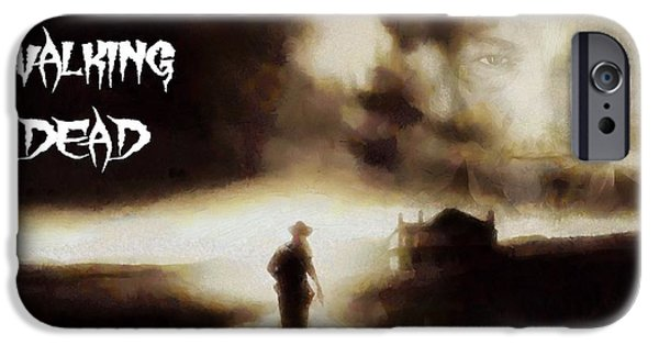 Drama Mixed Media iPhone Cases - The Walking Dead Poster iPhone Case by Dan Sproul