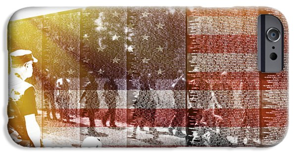 Patriotism iPhone Cases - The Wall iPhone Case by Tom Gari Gallery-Three-Photography