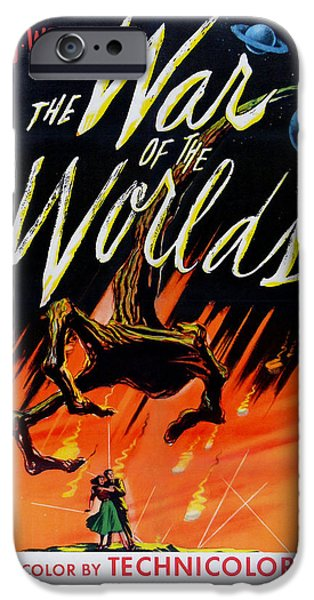 Recently Sold -  - 1950s Movies iPhone Cases - The War of the Worlds iPhone Case by Nomad Art And  Design
