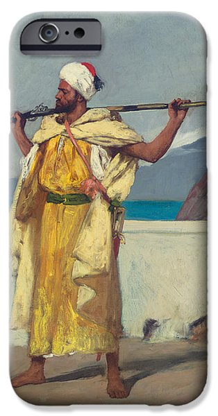 Sea Watch iPhone Cases - The Watchful Guard iPhone Case by Jean Joseph Benjamin Constant