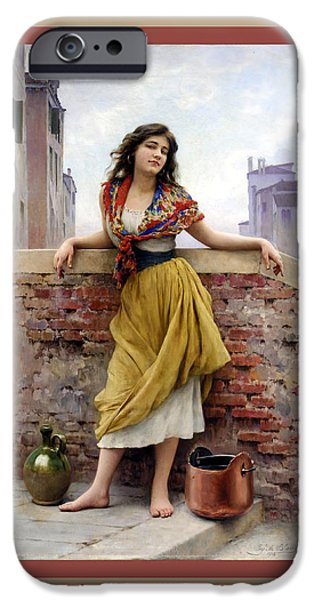 The Water Carrier Poster iPhone Case by Eugene de Blaas