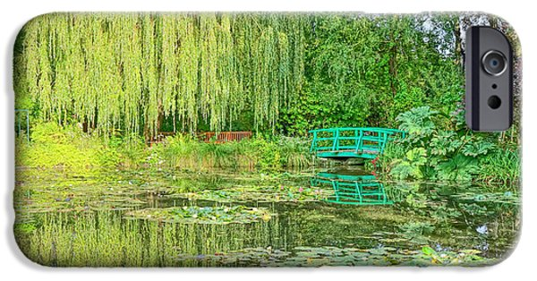 Painter Photographs iPhone Cases - The Water Garden iPhone Case by Olivier Le Queinec