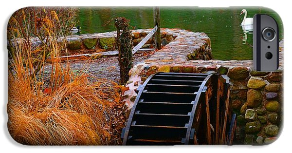 Grist Mill iPhone Cases - The Water Wheel iPhone Case by Paul Ward