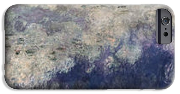 Impressionist Photographs iPhone Cases - The Waterlilies - The Clouds, 1914-18 See Also 64184,64185 & 64186 iPhone Case by Claude Monet