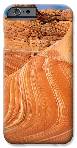 The Wave Coyote Buttes Arizona and Utah iPhone Case by Robert Ford