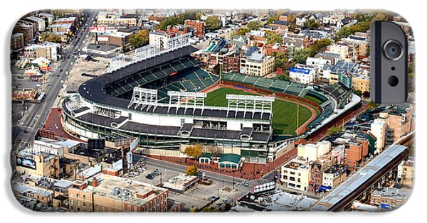Chicago Cubs Mixed Media iPhone Cases - The Way It Was Chicago Cubs Wrigley Field 03 iPhone Case by Thomas Woolworth