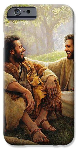 The Way of Joy iPhone Case by Greg Olsen