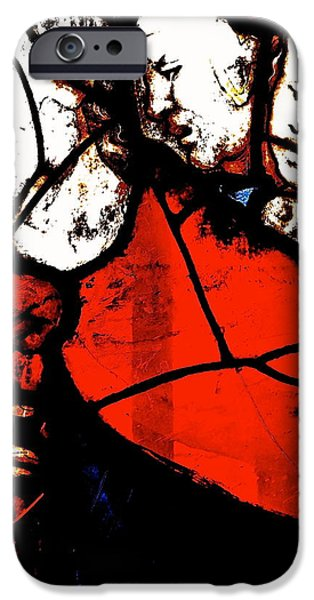 Cities Glass Art iPhone Cases - The Way Of This Earth iPhone Case by Ira Shander