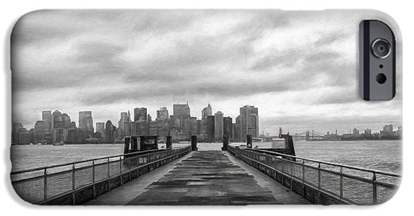 Hudson River iPhone Cases - The Way to New York City iPhone Case by Kim Hojnacki