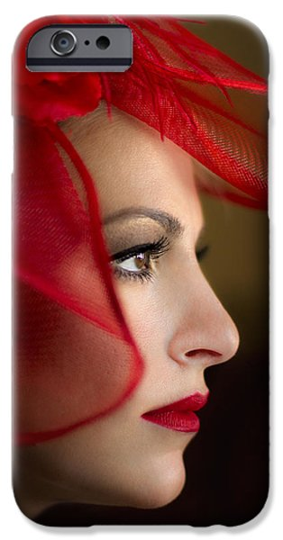 Lips iPhone Cases - The Way You Look Tonight iPhone Case by Evelina Kremsdorf