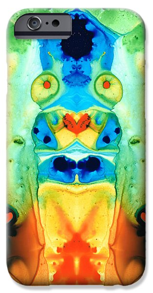 Lesbian iPhone Cases - The Wedding - Abstract Art By Sharon Cummings iPhone Case by Sharon Cummings