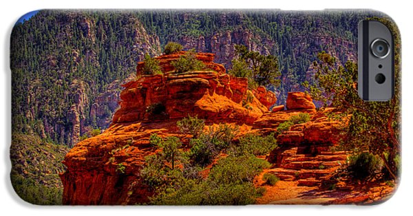 Sedona iPhone Cases - The Wedding Rock in Sedona iPhone Case by David Patterson
